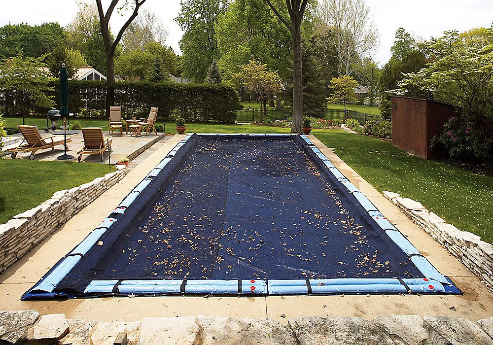 Filet para-feuilles pour bâche de piscine creusée rectangulaire 4,9 m x 11 m (16 pi x 36 pi)