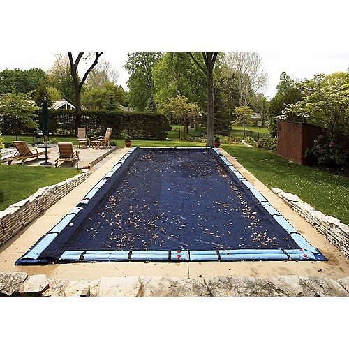 Blue Wave 16 ft. x 36 ft. Rectangular Leaf Net In-Ground Pool Cover