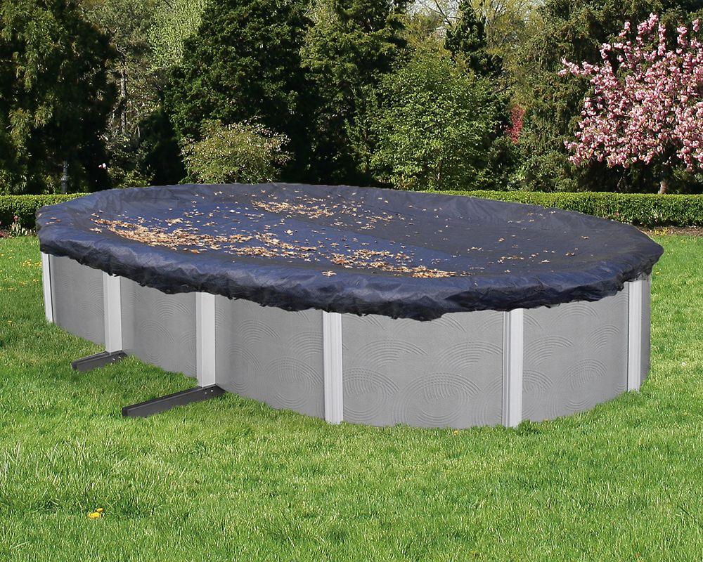 Filet para-feuilles pour couverture de piscine hors-terre ovale de 21 pi. (6,4 m) x 41 pi. (12,5 ...