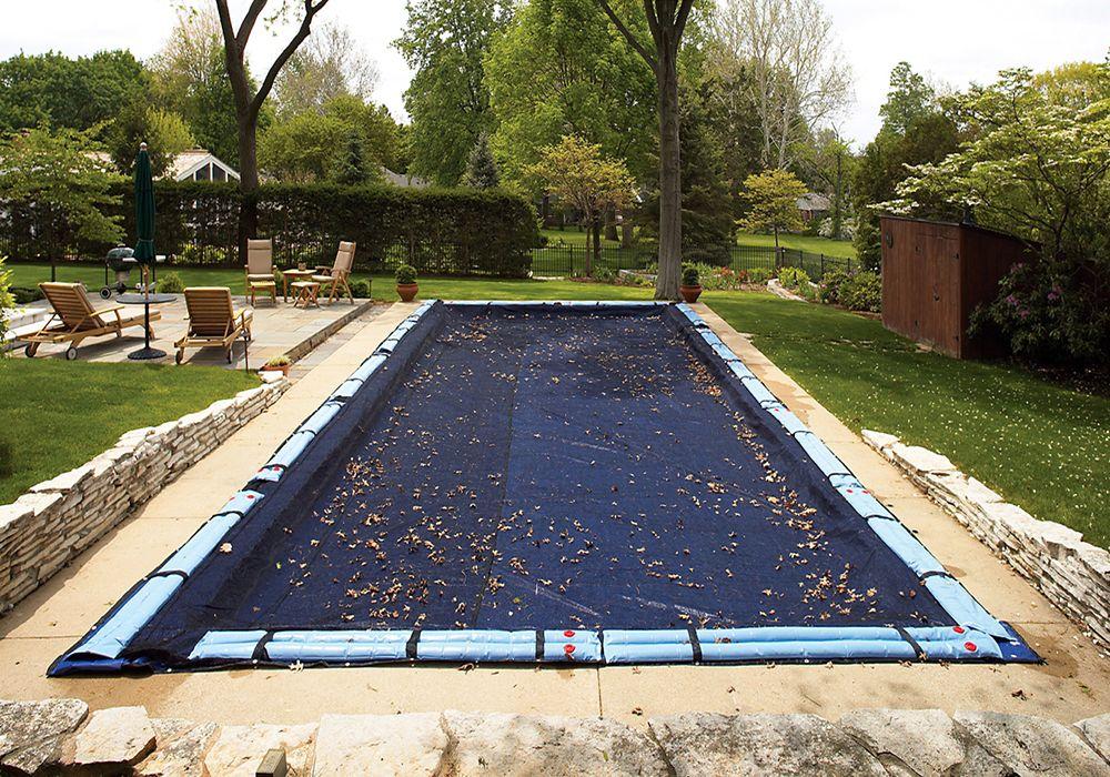 Filet para-feuilles pour couverture de piscine creusée rectangulaire de 30 pi. (9,1 m) x 50 pi. (...