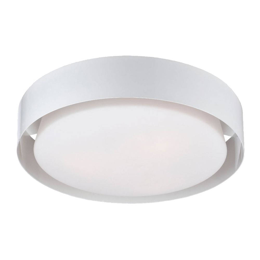 Saturn Collection 3 Light White Flushmount