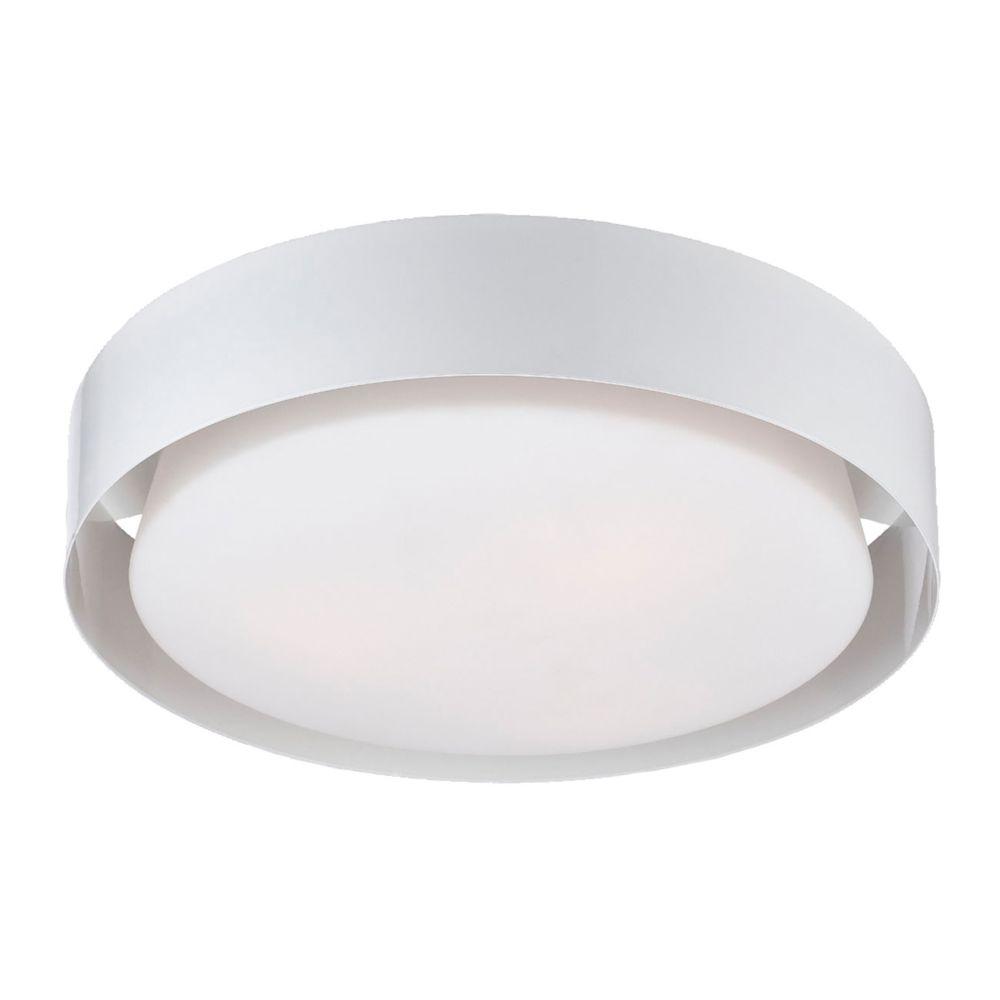 Saturn Collection 3 Light White Flushmount