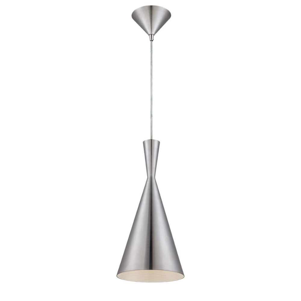 Bronx Collection 1 Light Brushed Aluminum Pendant