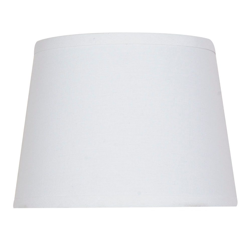 Lamp shades glass fabric shades more the home depot canada linen hardback accent shade greentooth Choice Image