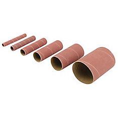 6-Piece Aluminium Oxide Sanding Sleeves 80G