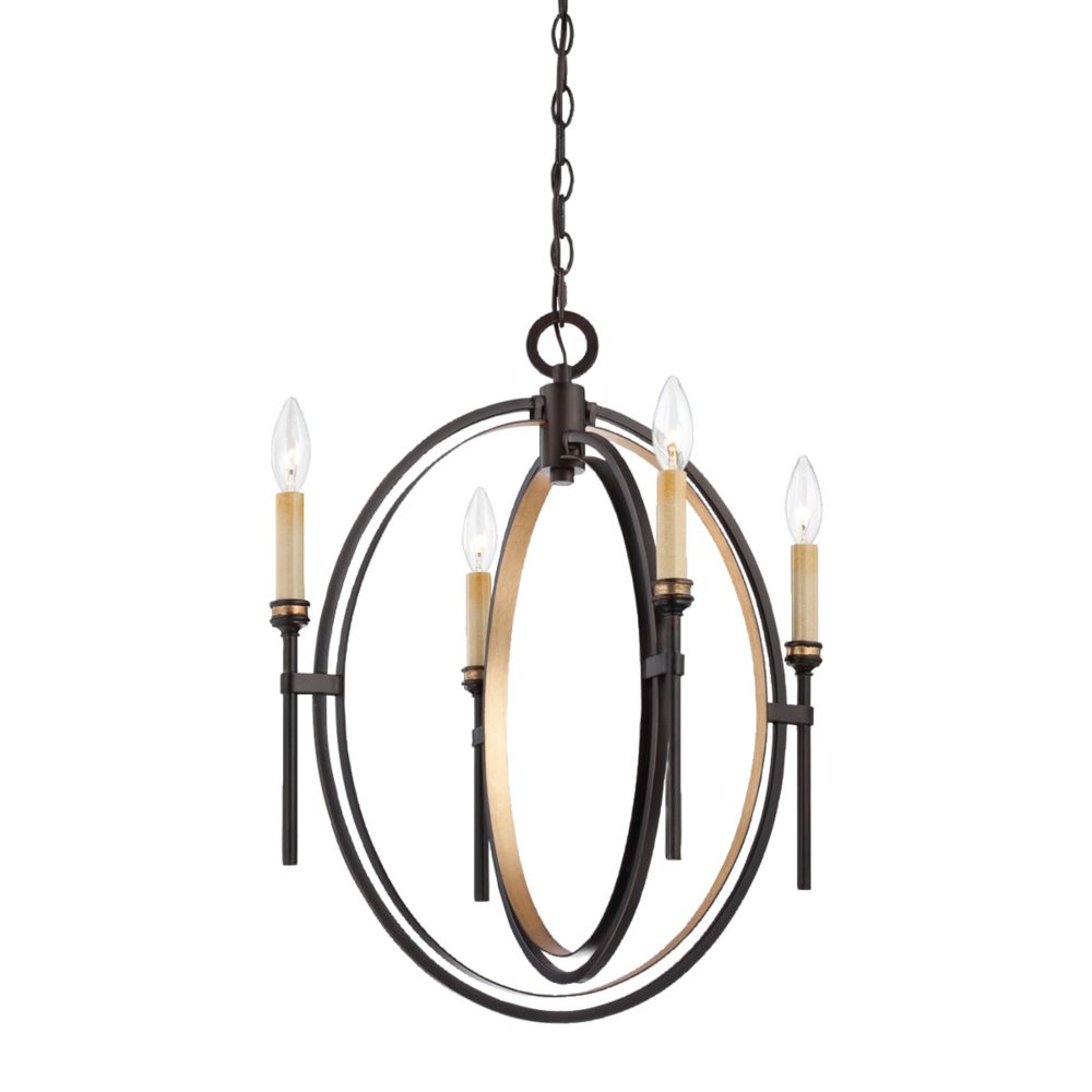Infinity Collection 4 Light Oil Rubbed Bronze Chandelier
