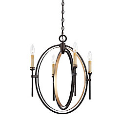 Eurofase Infinity Collection 4 Light Oil Rubbed Bronze Chandelier