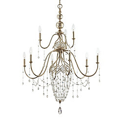 Eurofase Collana Collection 9 Light Silver Leaf Chandelier