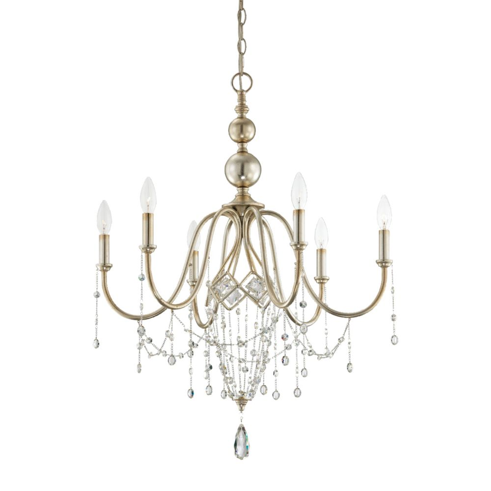 Collana Collection 6 Light Silver Leaf Chandelier 25628-012 in Canada