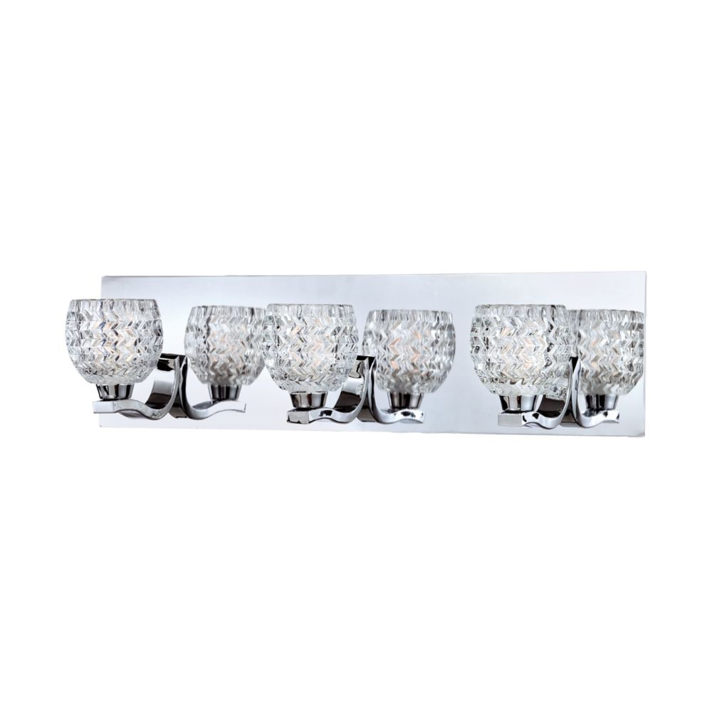 Wave Collection 3 Light Chrome Bathbar