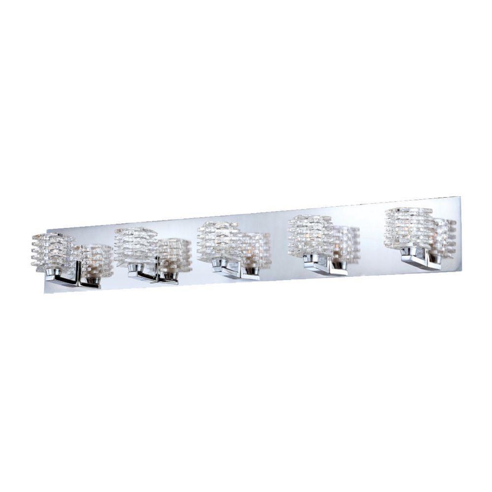 Eurofase Lenza Collection 5-Light Bath Bar in Chrome