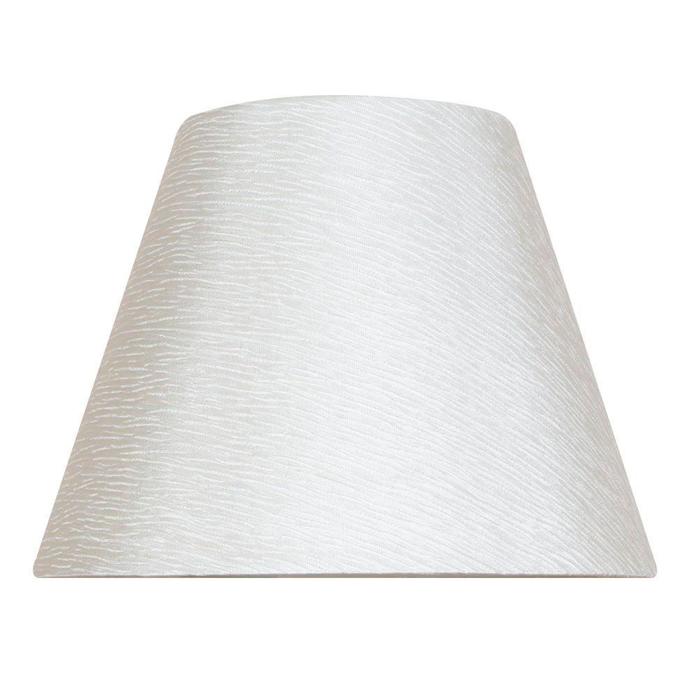 Abat-jour rigide blanc cassé, lampe de table