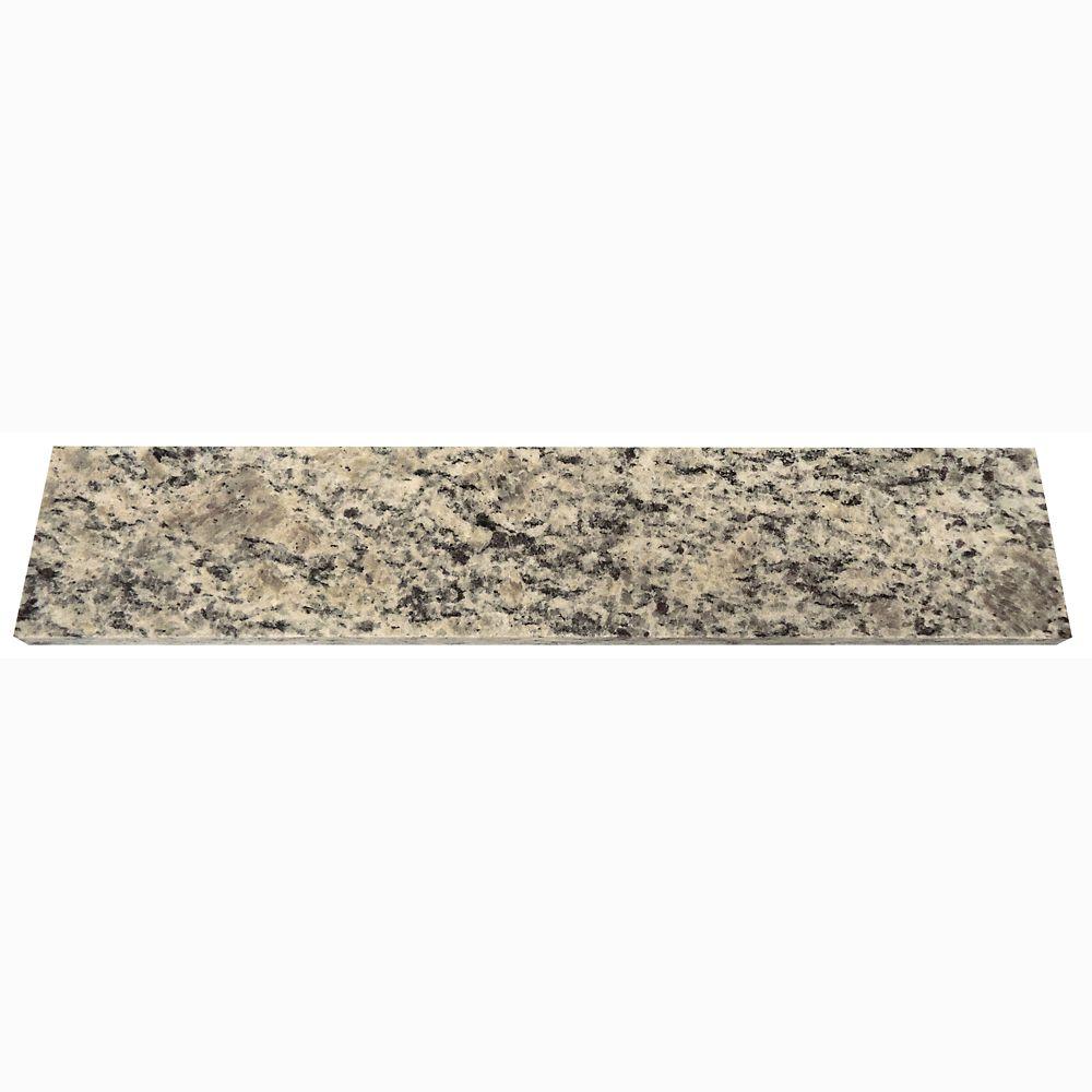 Rebord Latéral Anti-éclaboussure de 50,8 cm (20 po) en granit Santa Cecilia