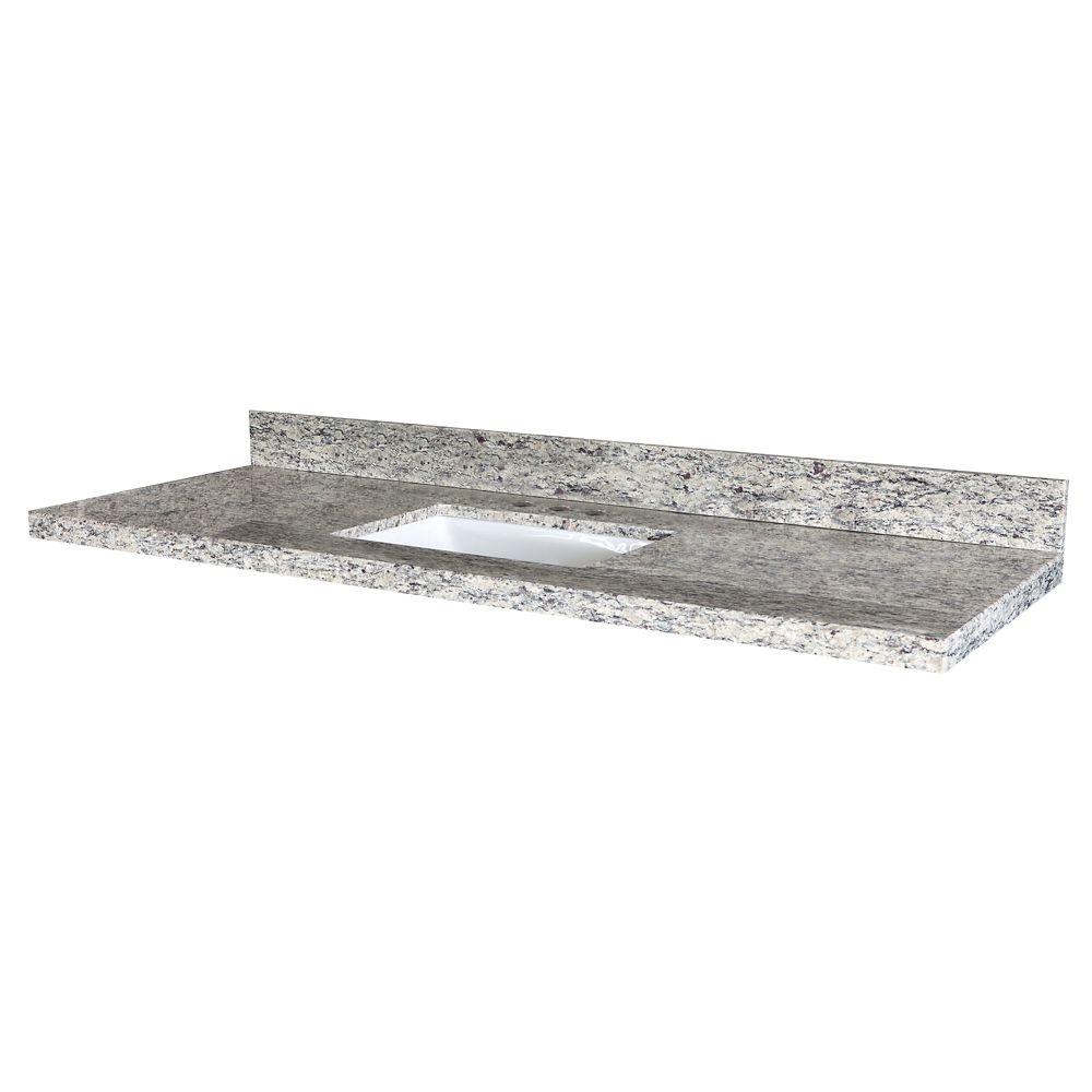 GLACIER BAY Santa Cecilia 61-Inch W x 22-Inch D Granite ...