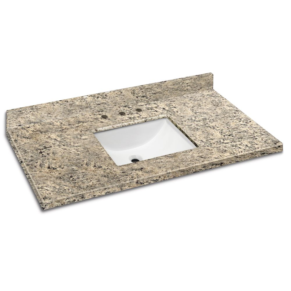 Santa Cecilia 49-Inch W x 22-Inch D Granite Vanity Top with Trough Bowl