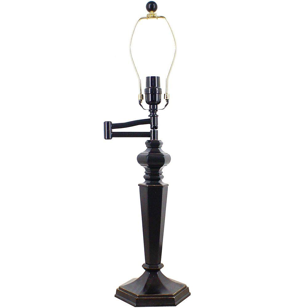 1 Light Table Lamp Steel Finish White Fabric Shade CLI
