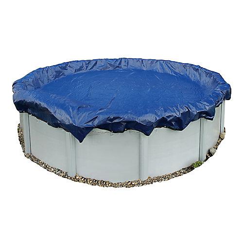 Bâche hivernale pour piscine hors-terre de 7,3 m (24 pi) de diamètre, garantie de 15 ans
