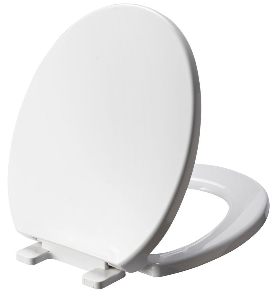 De toilettes au devant arrondi.  Blanche.