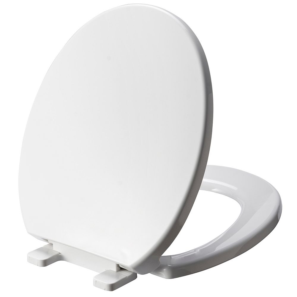 Glacier Bay Round Plastic Toilet Seat in White