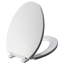 GLACIER BAY Elongated Toilet Seat in White