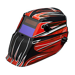 Lincoln Electric RED FIERCE Autodarkening Helmet, VAR 9-13