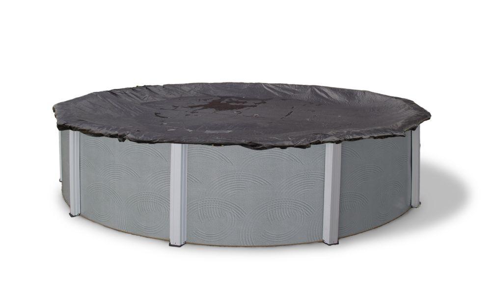 Filet en mailles rugueuses pour couverture hivernale de piscine hors-terre de 21 pi. (6,4 m) de d...