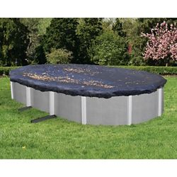 Blue Wave 15 ft. x 30 ft. Oval Leaf Net Above-Ground Pool Cover
