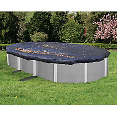 12 ft. x 24 ft. Oval Leaf Net Above-Ground Pool Cover