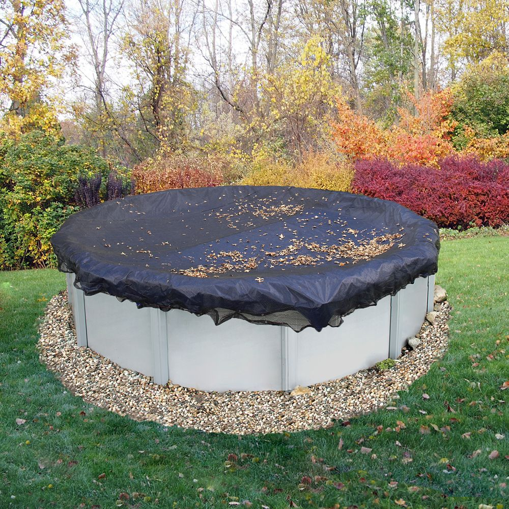 Filet para-feuilles de 21 pi. (6,4 m) de diamètre pour couverture de piscine hors-terre