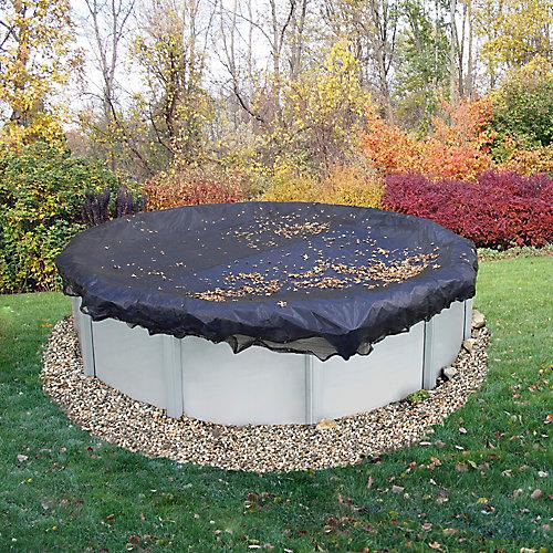 Filet para-feuilles pour bâche de piscine hors-terre de 5,5 m (18 pi) de diamètre
