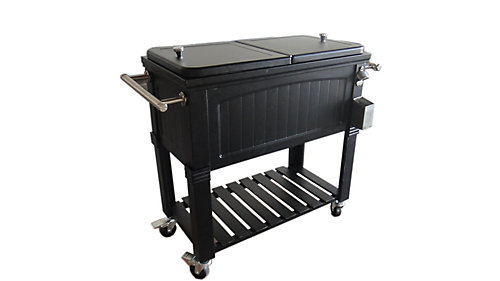 outdoor cart cooler beverage ice rolling chest bhp ebay portable patio party beer coolers