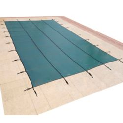 Blue Wave 15 ft. x 30 ft. Rectangular Green In-Ground Pool Safety Cover