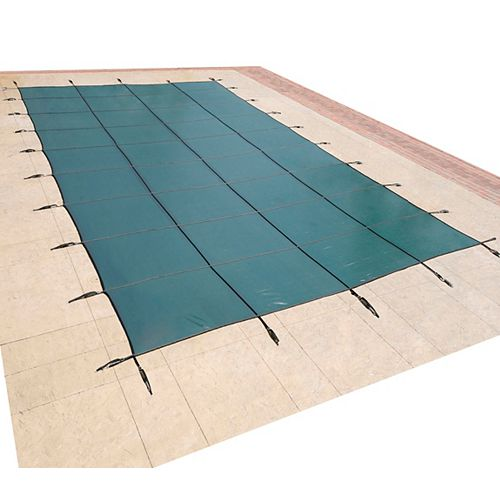 Blue Wave 18 ft. x 36 ft. Rectangular Green In-Ground Pool Safety Cover