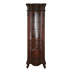 Avanity Provence 24-inch W x 72-inch H x 19-1/5-inch D Bathroom Linen Storage Tower Cabinet in Cherry