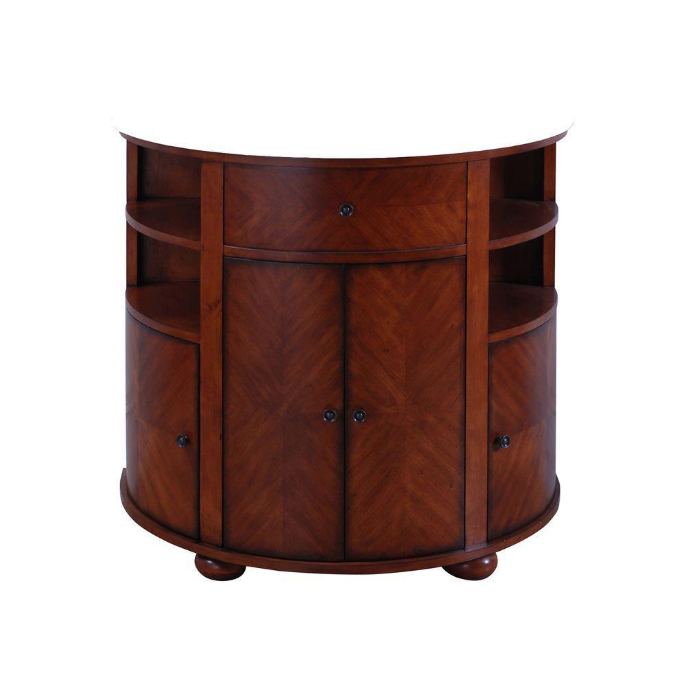 Oxford 38-inch W Vanity in Dark Oak Finish
