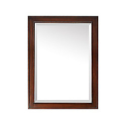 Avanity Brentwood 32-inch L x 24-inch W Single Wall Mirror in Walnut