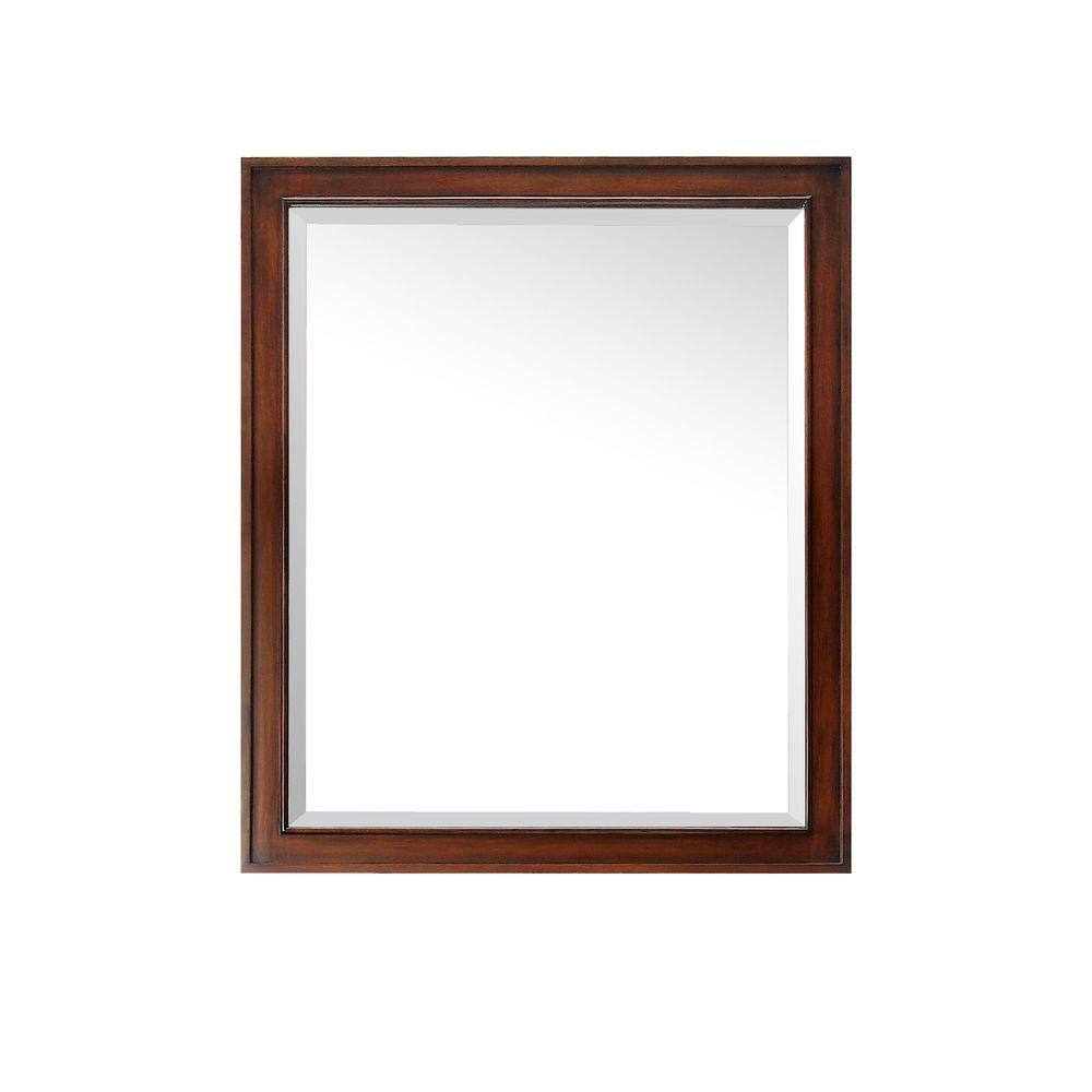 Brentwood 30 Inch Mirror in New Walnut Finish