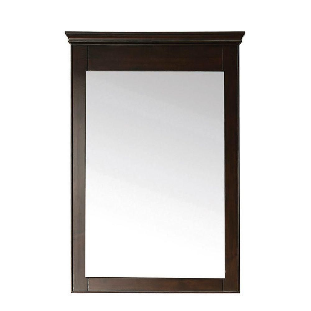 Windsor 24 Inch Mirror in Walnut Finish