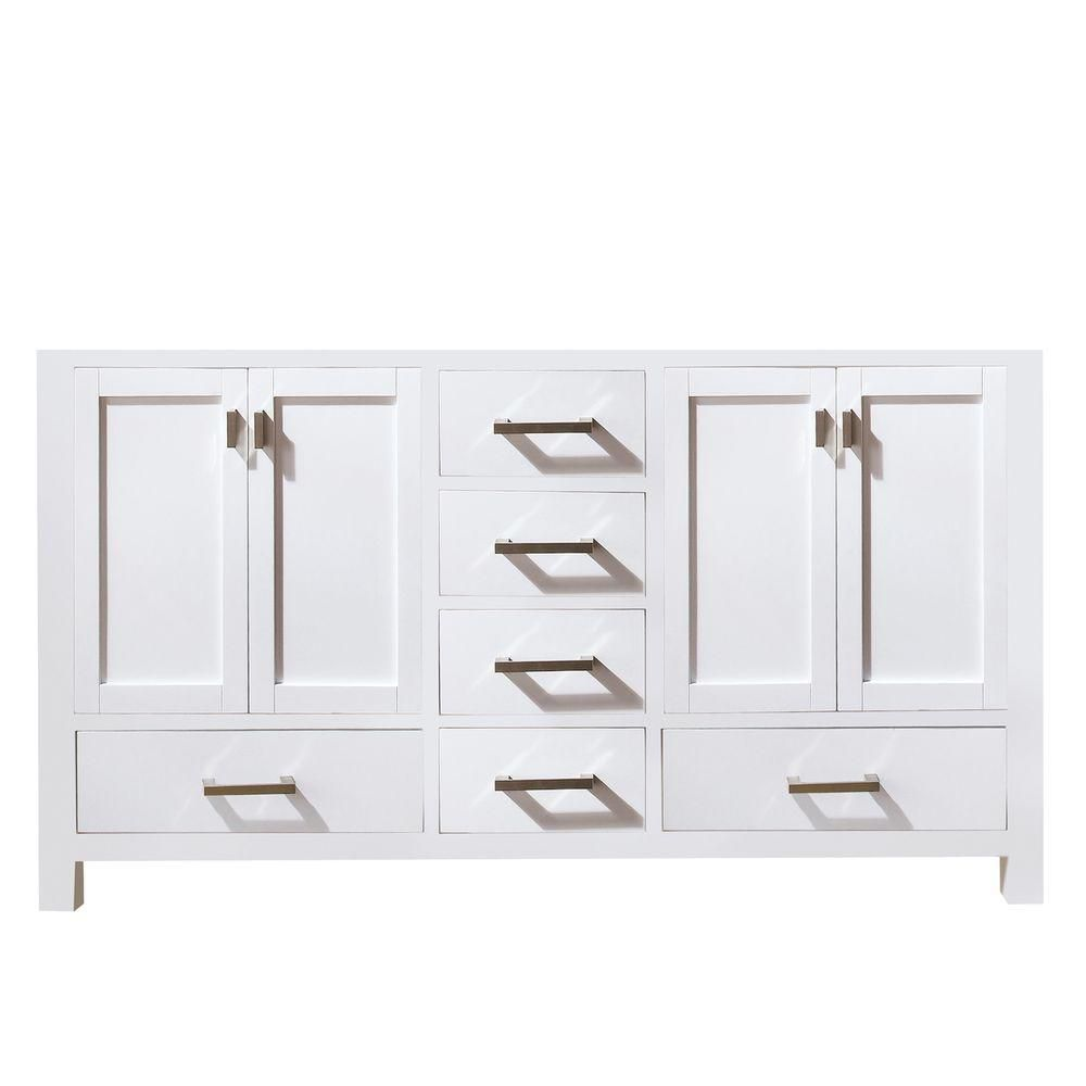 Avanity Modero 72 Inch Vanity Cabinet In White The Home Depot Canada