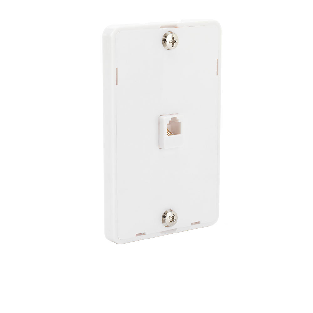 commercial electric telephone wall mount in white