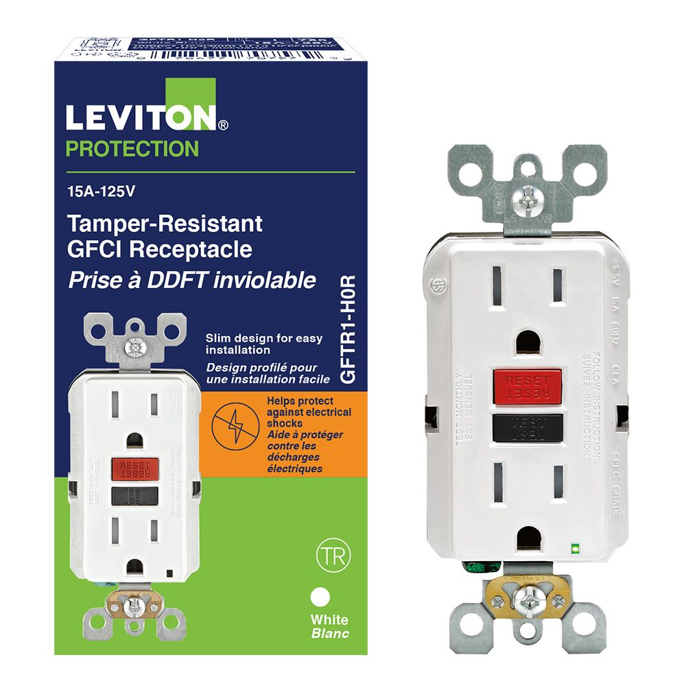 Timers The Home Depot Canada Plug 2wire Polarized Rona Decora 15 Amp Tamper Resistant Slim Gfci Receptacle Outlet With