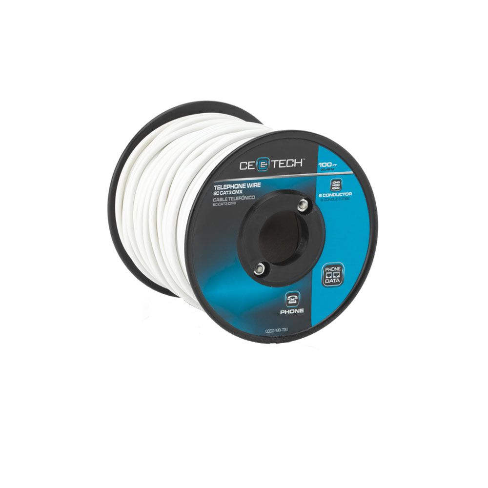 Outdoor Telephone Wiring Enclosure Speaker Wire The Home Depot Canada Ce Tech 100ft 4c Station