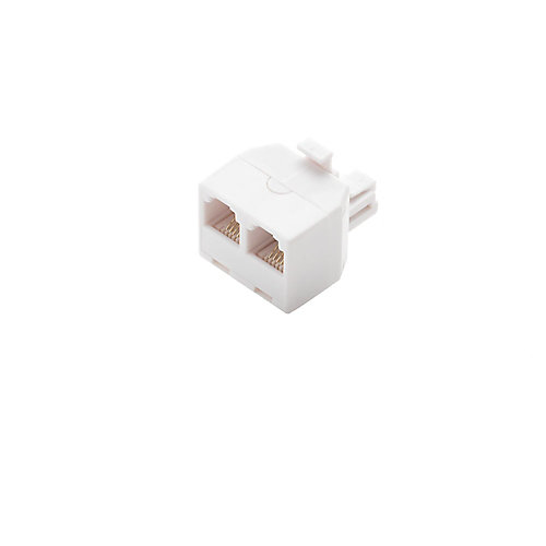 2-Way Telephone Splitter, White