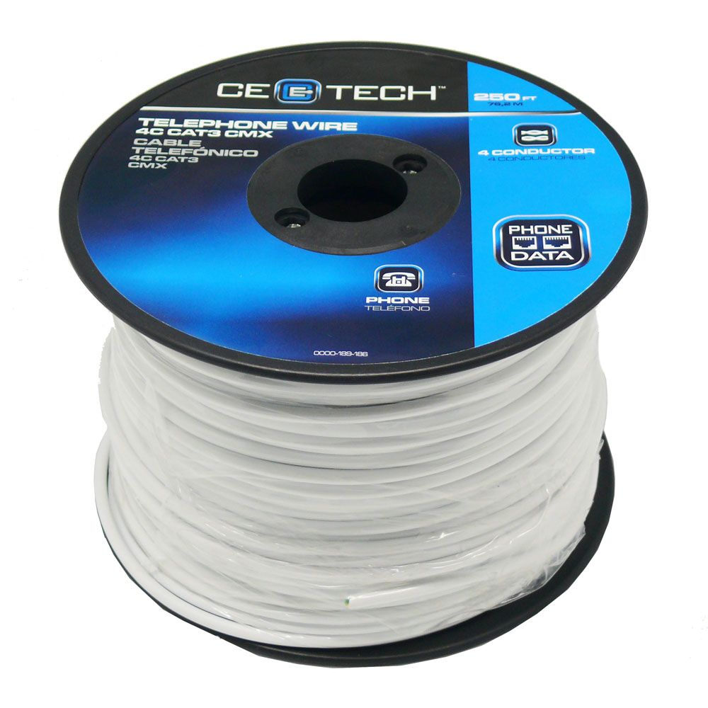 Commercial Electric 250 Ft  Telephone Wire 4c Cat3 Cmx In
