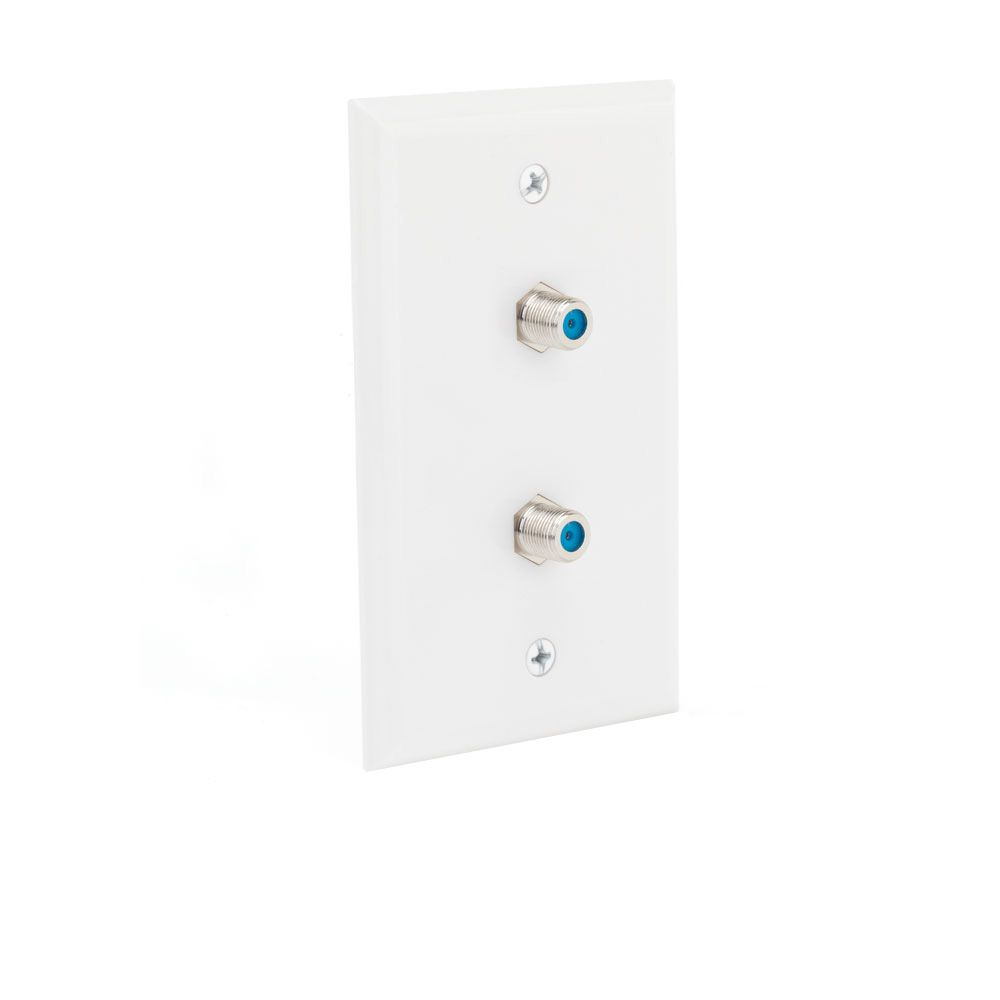Commercial Electric Dual Coaxial Wall Plate