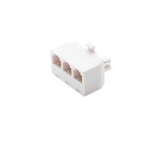 3-Way Telephone Splitter - White