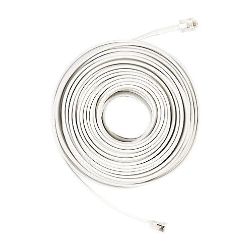 50 ft. Telephone Line Cord, White