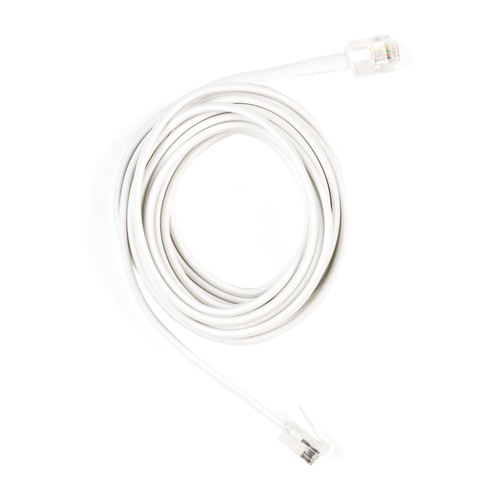 Commercial Electric 7 ft. Phone Line Cord in White