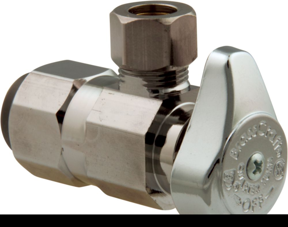 Angle Valve 1/2 Inch Nominal Push Connect X 3/8 Inch Od Compression
