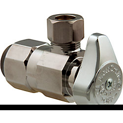 BrassCraft Angle Valve 1/2 Inch Nominal Push Connect X 3/8 Inch Od Compression
